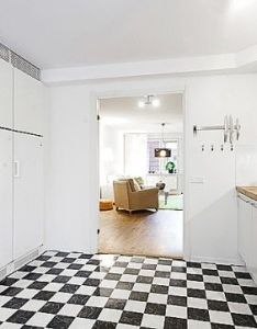 Apartment interior design that combines black and white theme with natural wood digsdigs also rh za pinterest