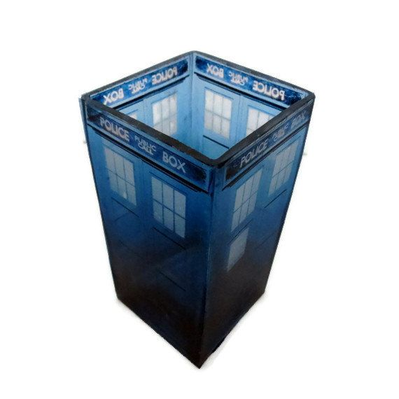 Doctor Who TARDIS Candle Holder Geeky Home Decor Home Doctor