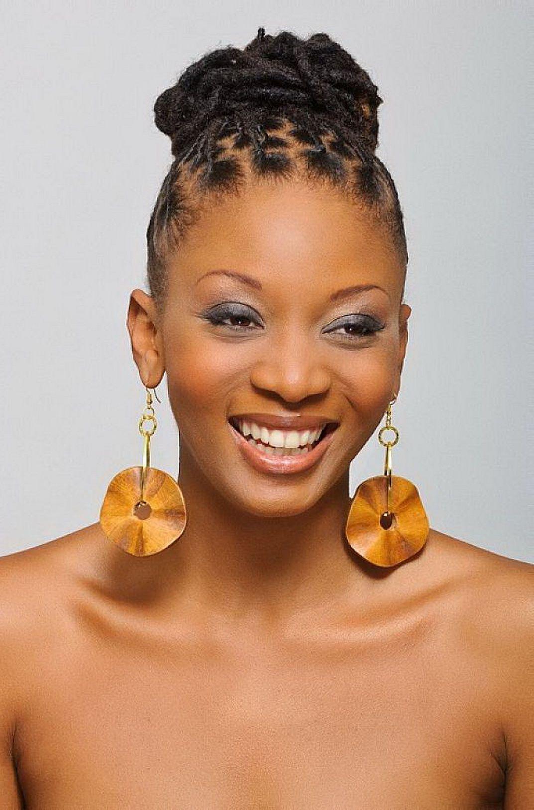 African American Bun Hairstyles Cute African American Hairstyles