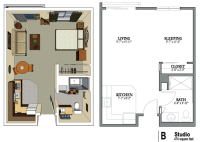 Studio | studio floorplans | Pinterest | Studio ...