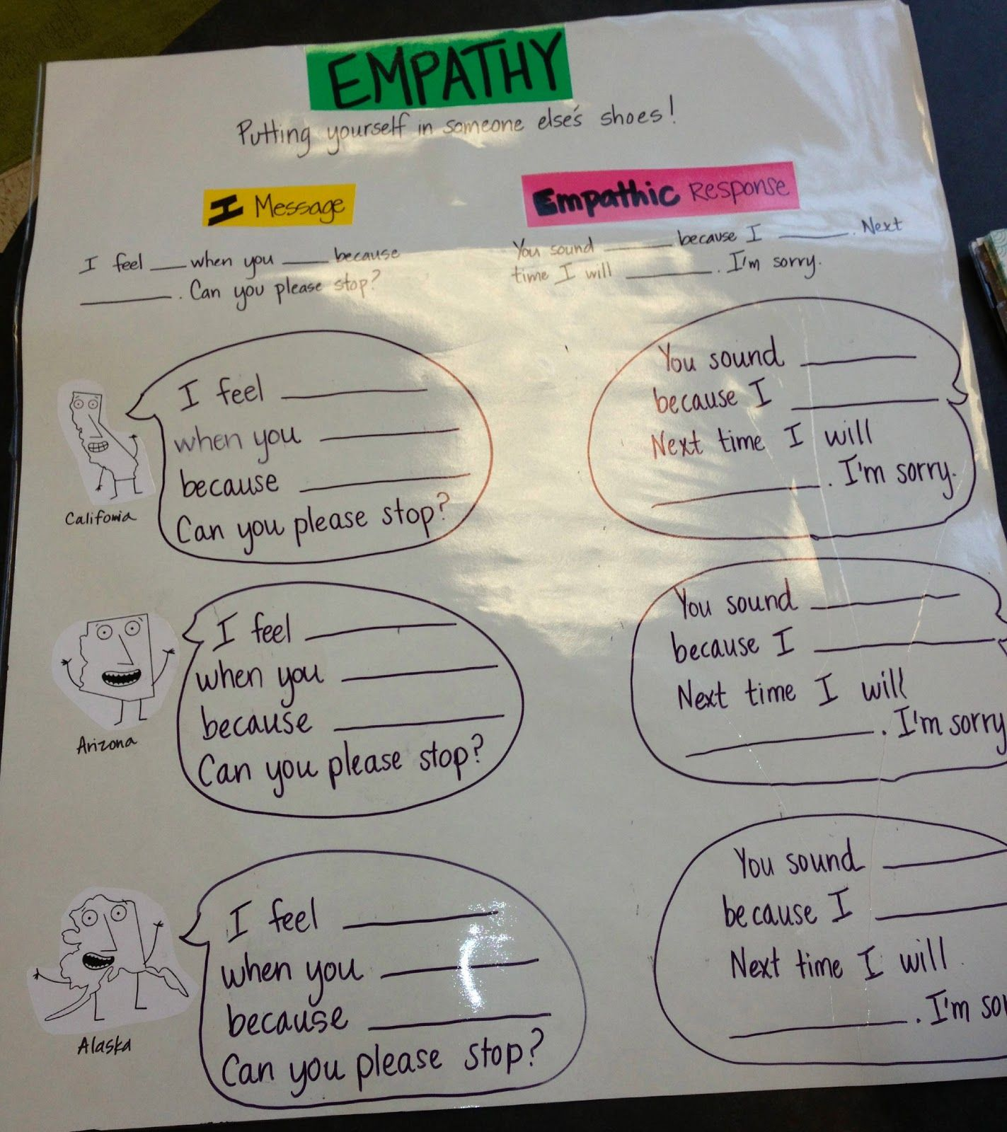 Empathy Lesson Using I Statements