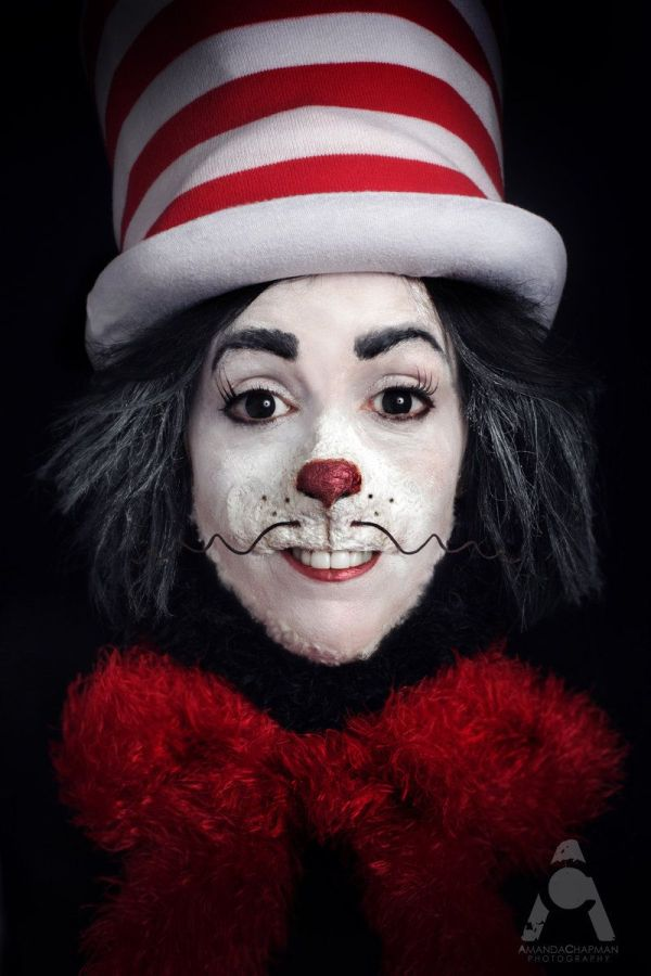 Cat In The Hat Costume Makeup