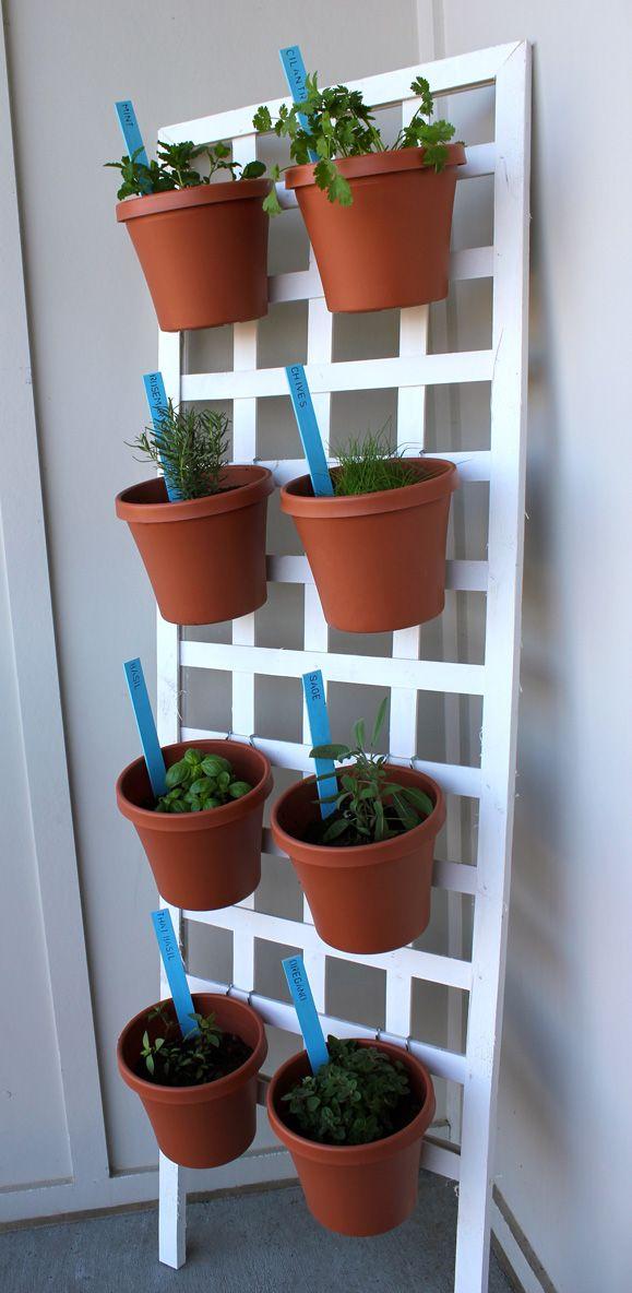 DIY Space Saving Herb Garden Gardens Garden Projects And