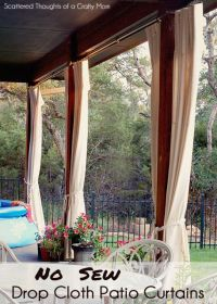 Patio Curtains on Pinterest | Outdoor Curtains, Drop Cloth ...
