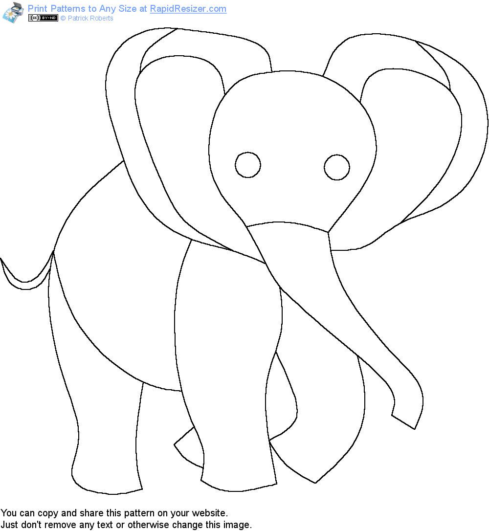 Free Baby Elephant pattern. Get it and more free designs