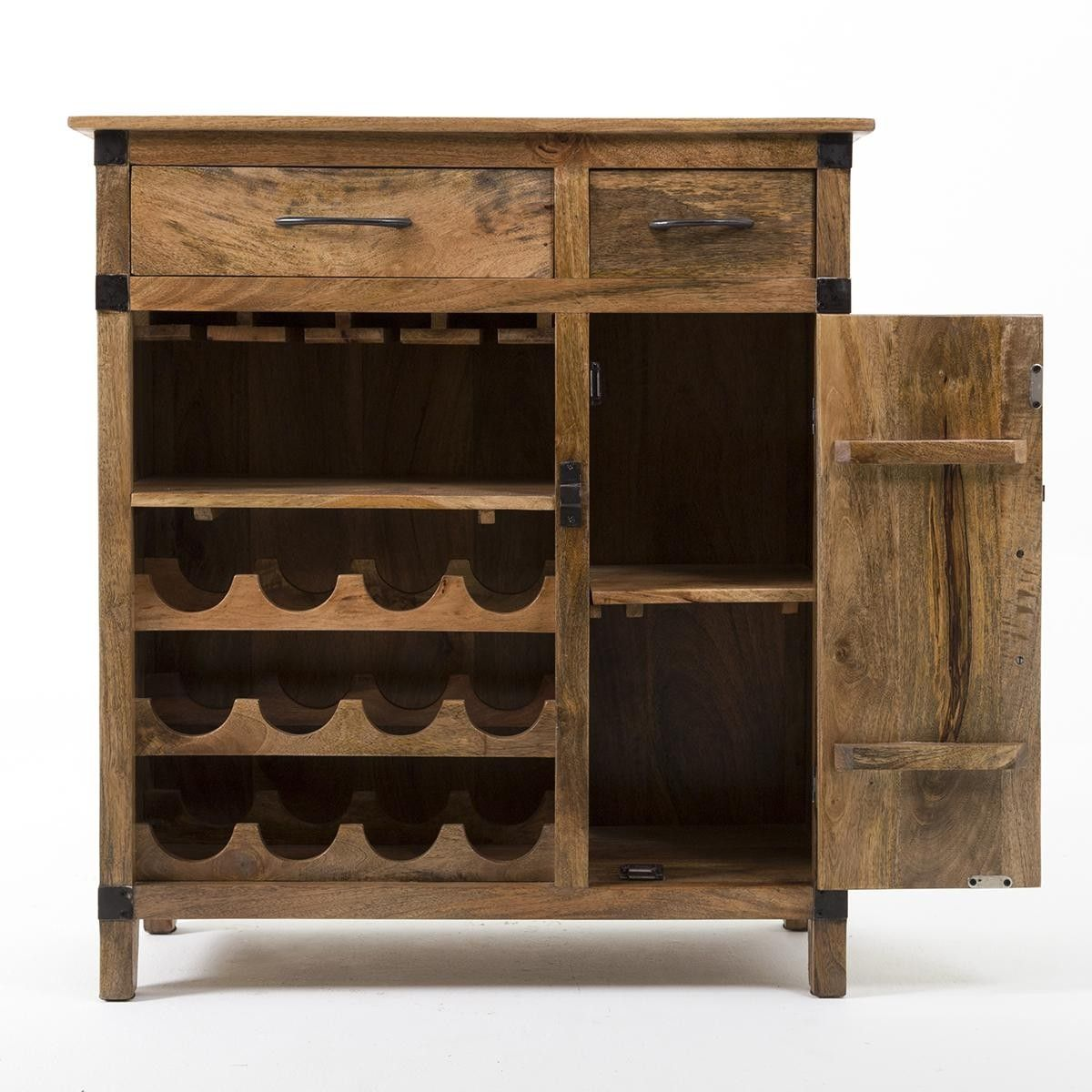 Rustic Industrial Wine Cabinet  Our home  Pinterest