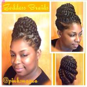 goddess braids hair