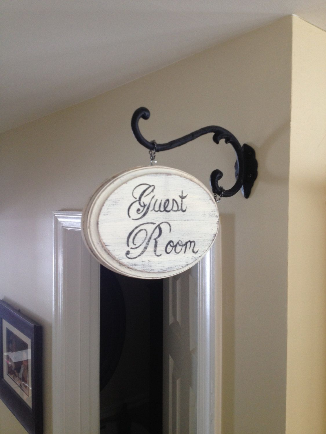 Wooden Custom Distressed Vintage Shabby Chic Bath Sign