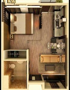 Plantas de apartamentos pequenos  quitinetes studio apartment floor plansstudio also tiny houses house rh pinterest