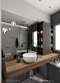 The hero of this bathroom design is the vanity. The ...