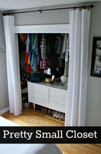 Ideas for organizing a small closet on a budget. #closet # ...