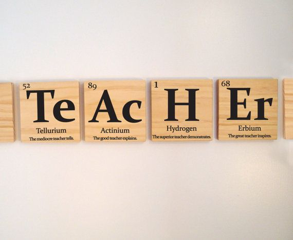 Teacher gift periodic table of elements quotTEACHERquot with