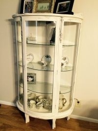 Grandmothers Curio Cabinet up cycle. Painted it with an ...