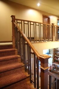 Stair Systems | craftsman style stair case with a mix of ...