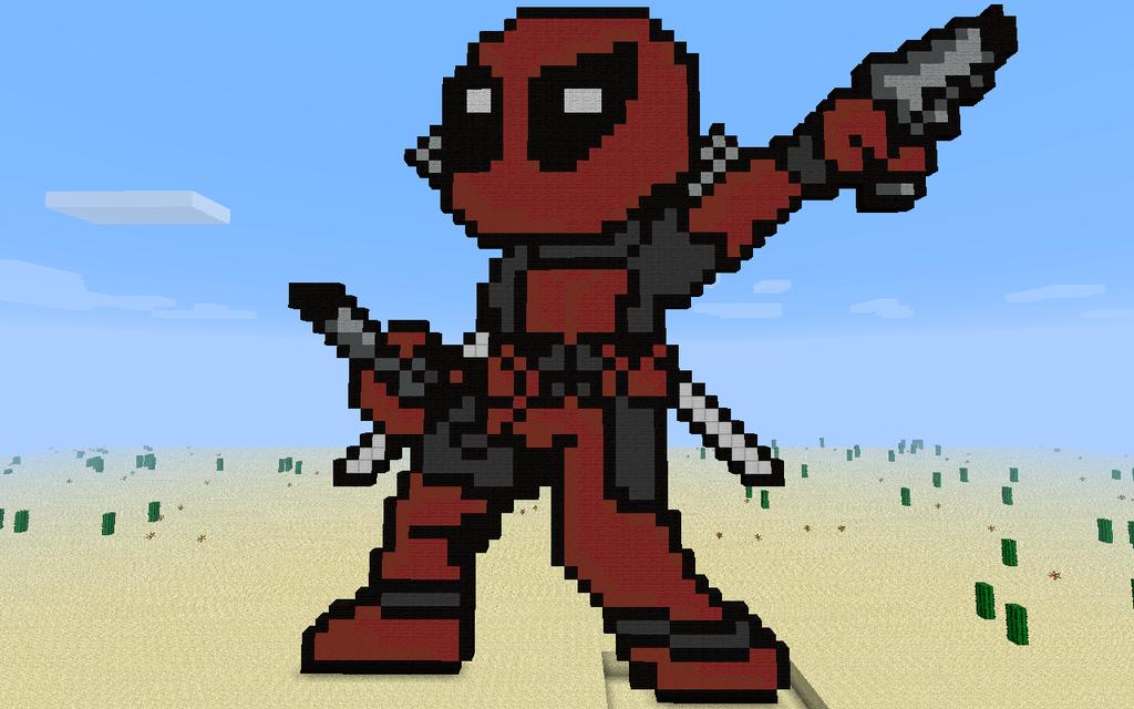Minecraft Pixel Art Templates Deadpool Pixel Art De Chien Pixel