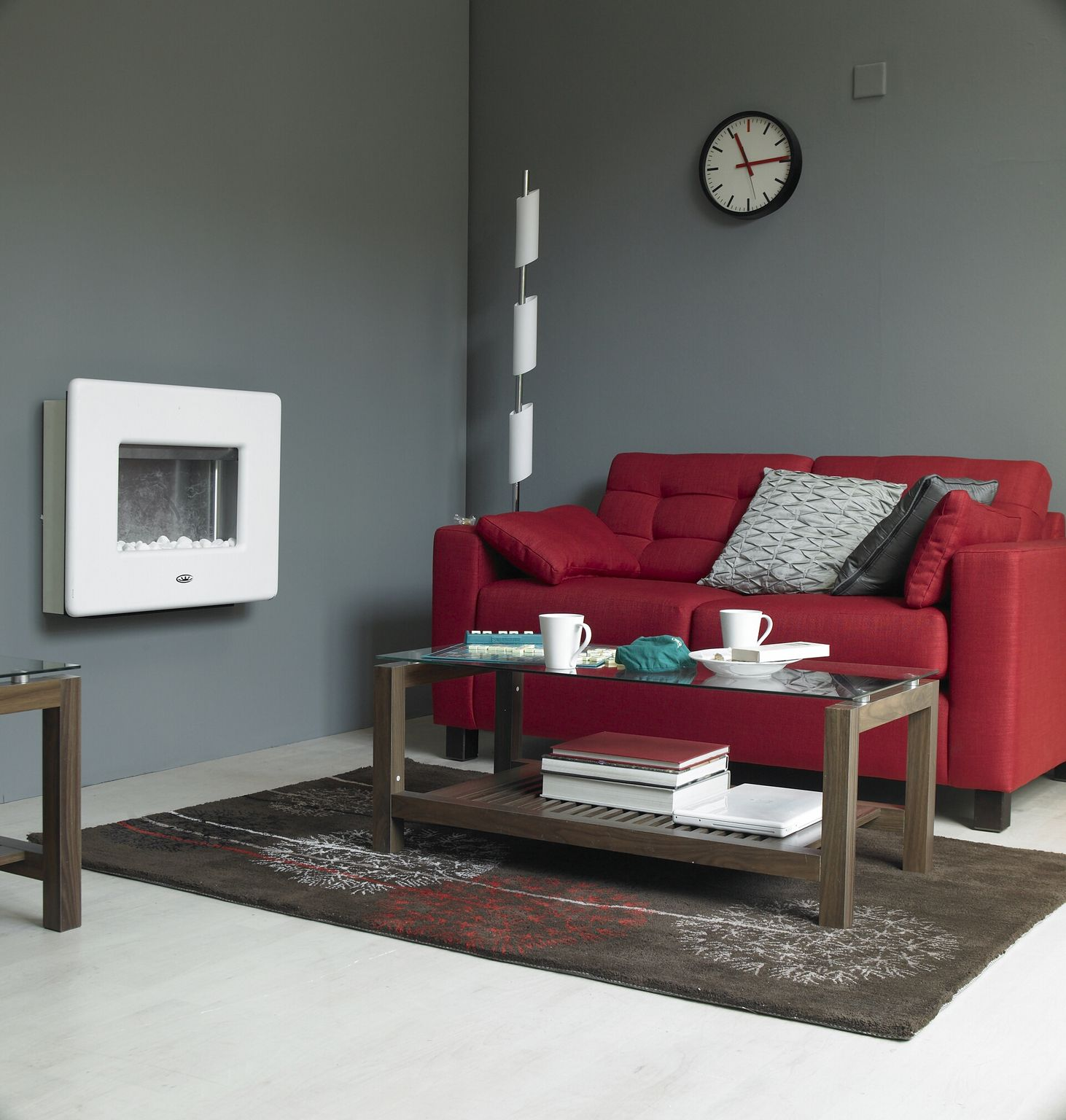 living room color with red sofa sectional reclining sofas canada small character grey