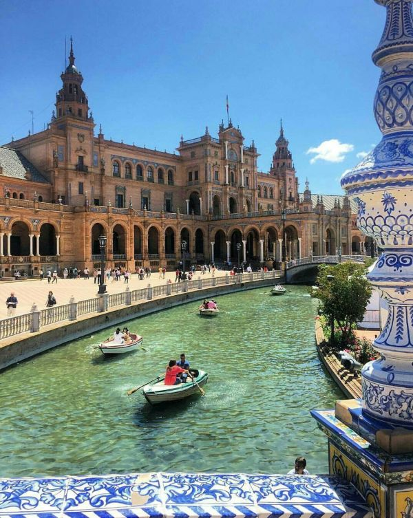 Study In Seville Spain And Visit Plaza De