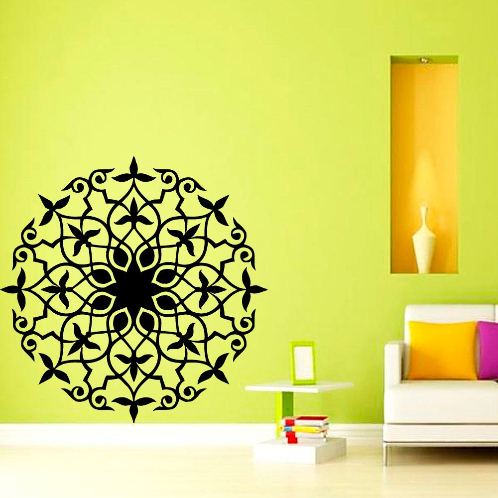Dctop india mandala wall sticker vinyl self adhesive home decor living room decals circle pattern also rh uk pinterest