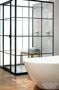 Splendor in the Bath. The shower enclosure is modeled ...