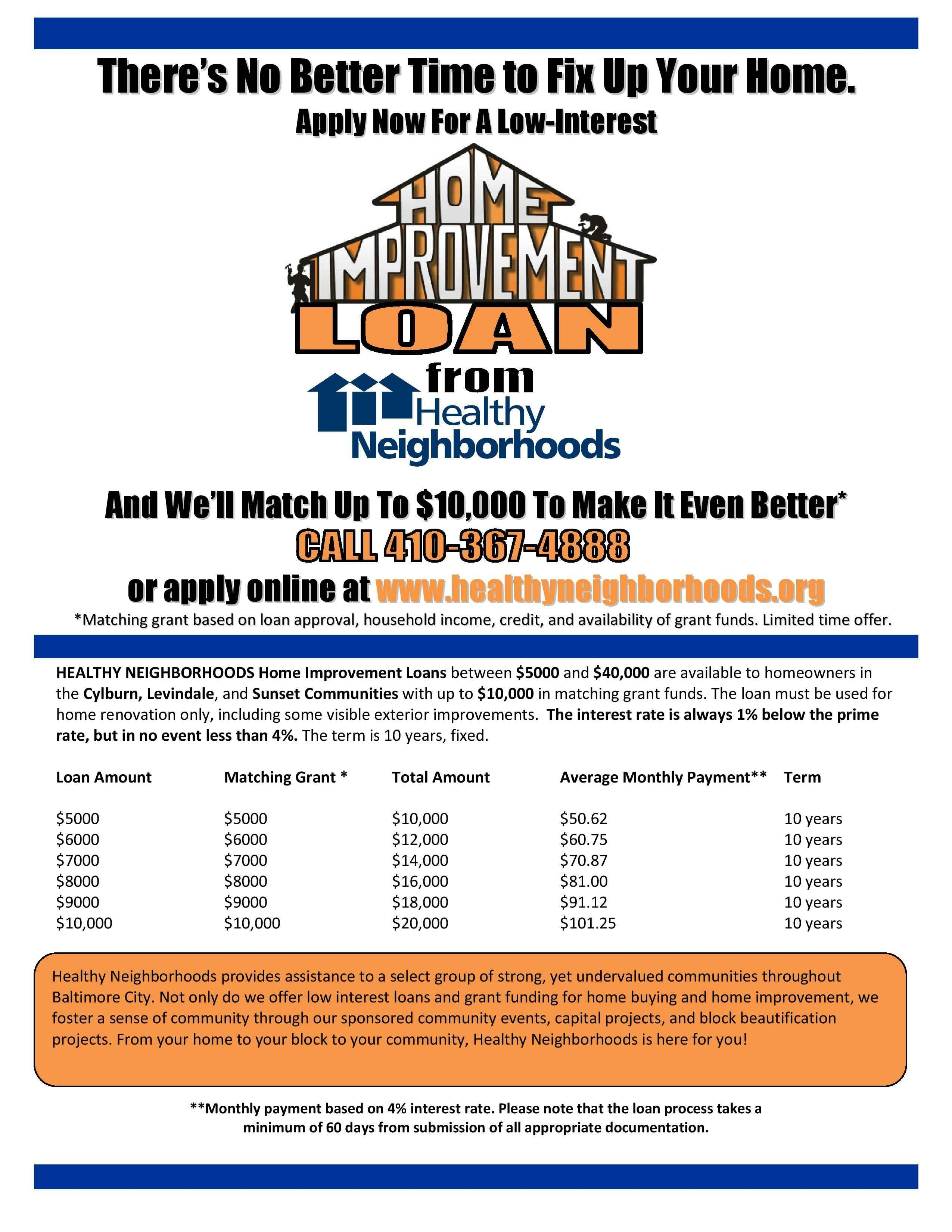 Home Improvement Flyers Info On Financing House Improvements
