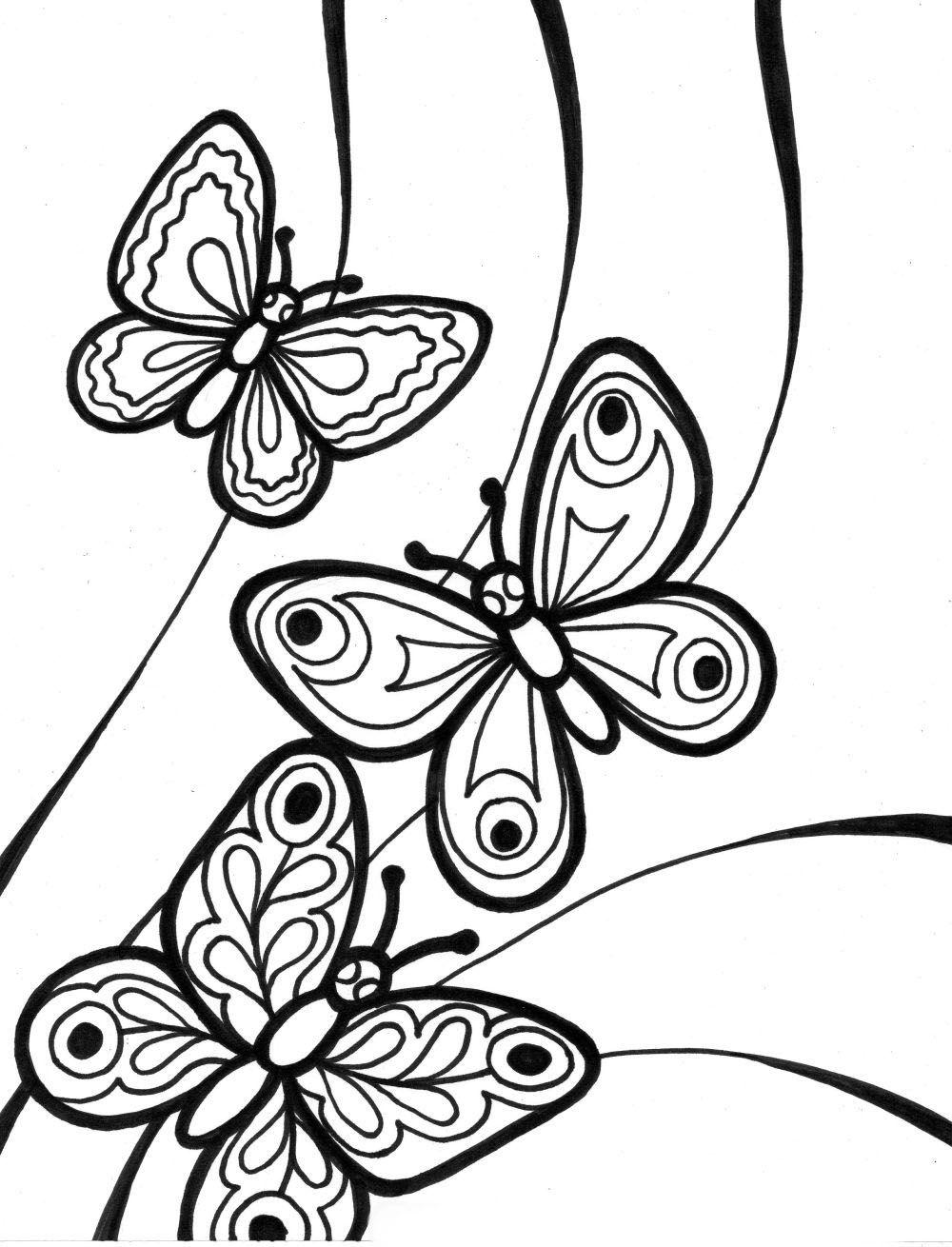Mariposas Para Colorear Faciles