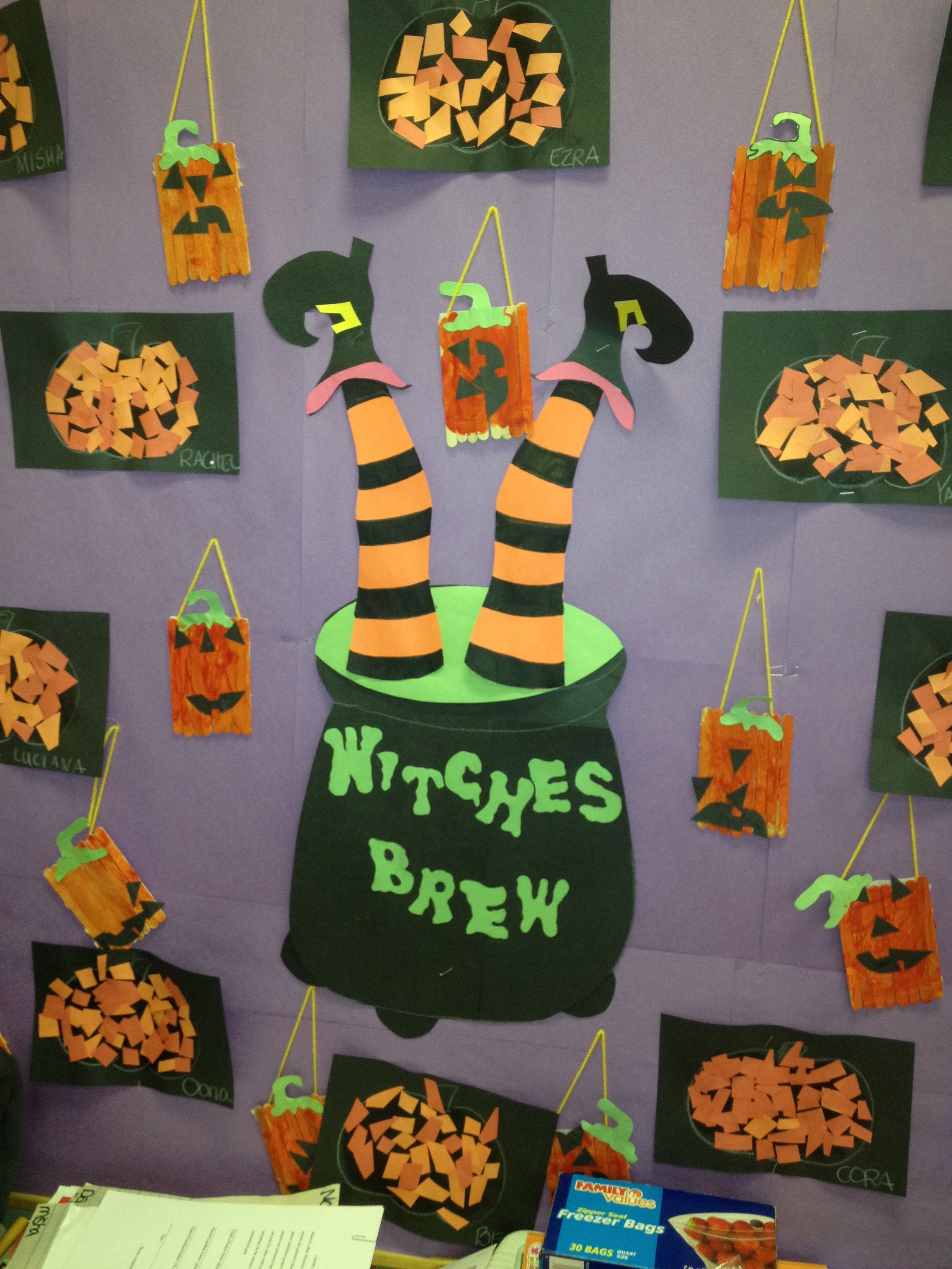 Halloween Witches Brew Bulletin Board