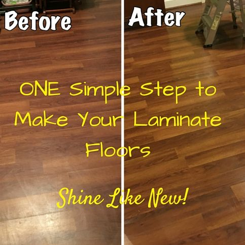 Laminate Floors  Make Them Shine Again Easy DIY step to