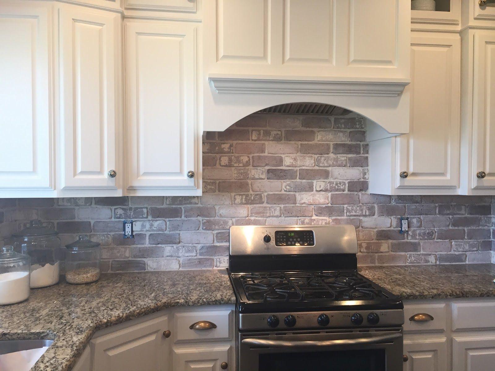 Love brick backsplash in the kitchen. easy diy install