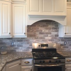 Brick Tiles For Backsplash In Kitchen Free Standing Islands Love The Easy Diy Install
