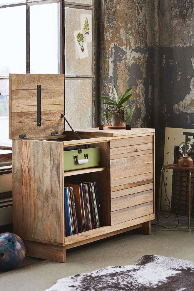 4040 locust wooden media console hmmm perhaps we could