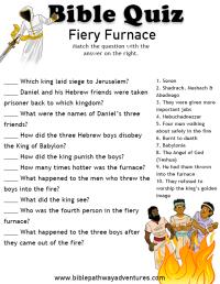 Bible Quiz for Kids: Fiery Furnace | Bible quiz, Bible and ...