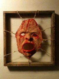 Bloody dead skin framed face halloween haunt prop fx gory ...
