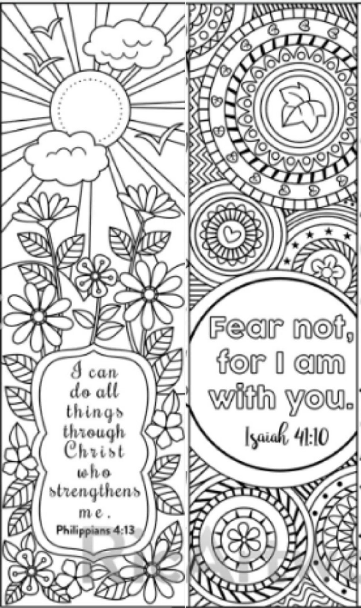 8 Bible Verse Coloring Bookmarks