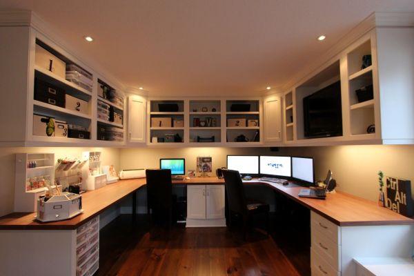 Home offices Recessed lighting trim Laminate flooring