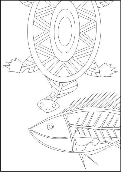 The Brave Ant Aboriginal Art Colouring in Book http