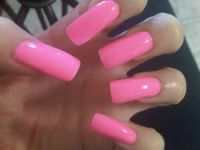 Love these! They're like hot baby pink! | I like acrylic ...