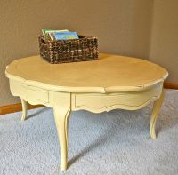 Round Yellow Coffee Table Sherwin Williams Bees Wax | The ...