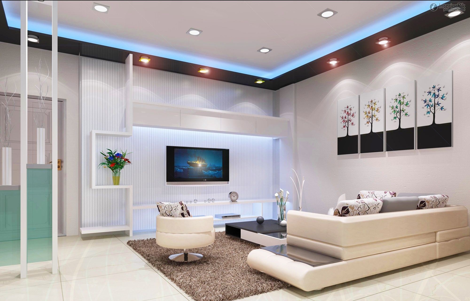 Three bedroom and two living room minimalist living room