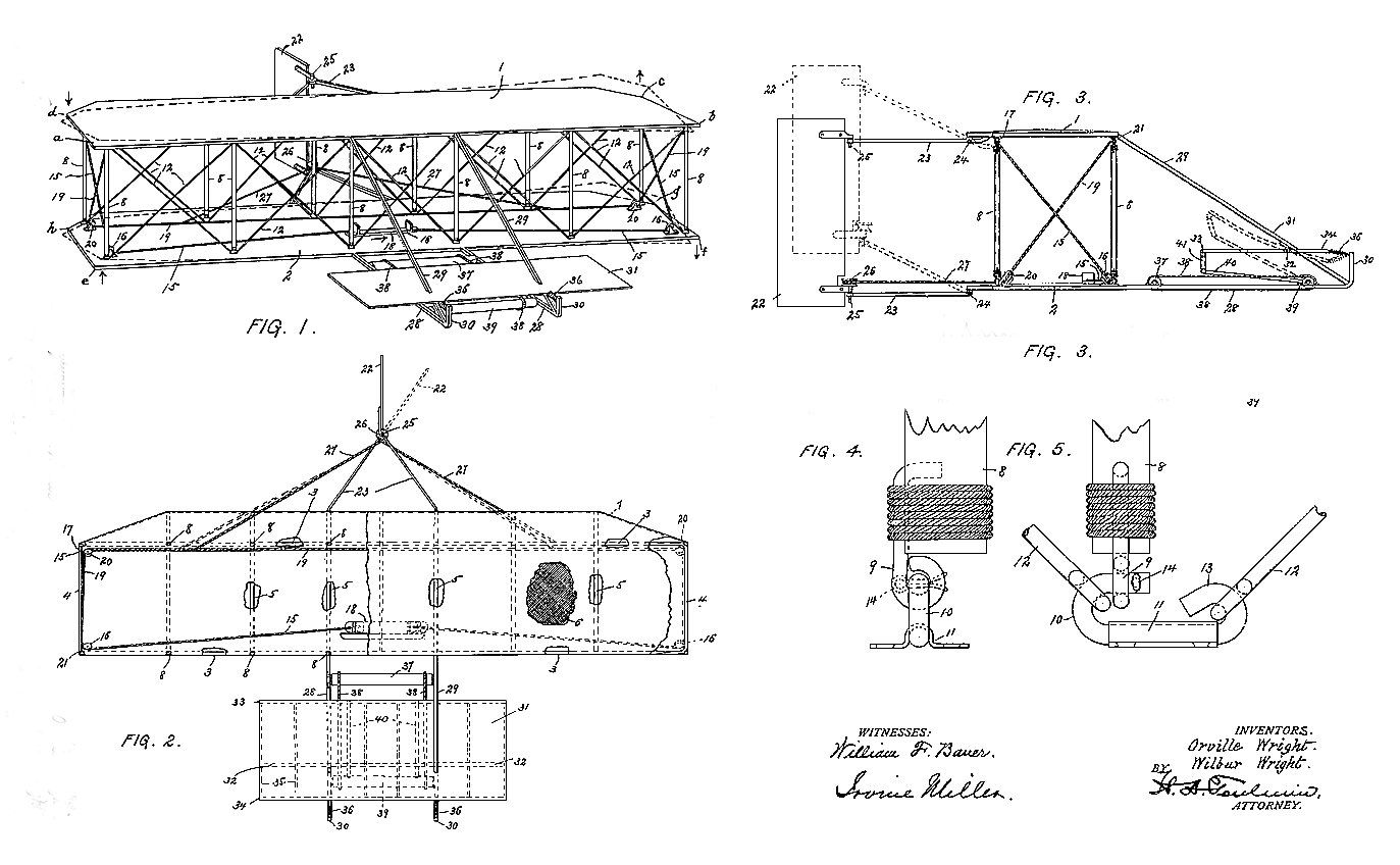 Wright First Drawing Plane Brothers