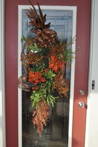 Fall door swag I made--VERY easy! | Crafts | Pinterest ...