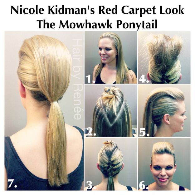 Mohawk Ponytail!! Inspired By Red Carpet Nicole Kidman's Style