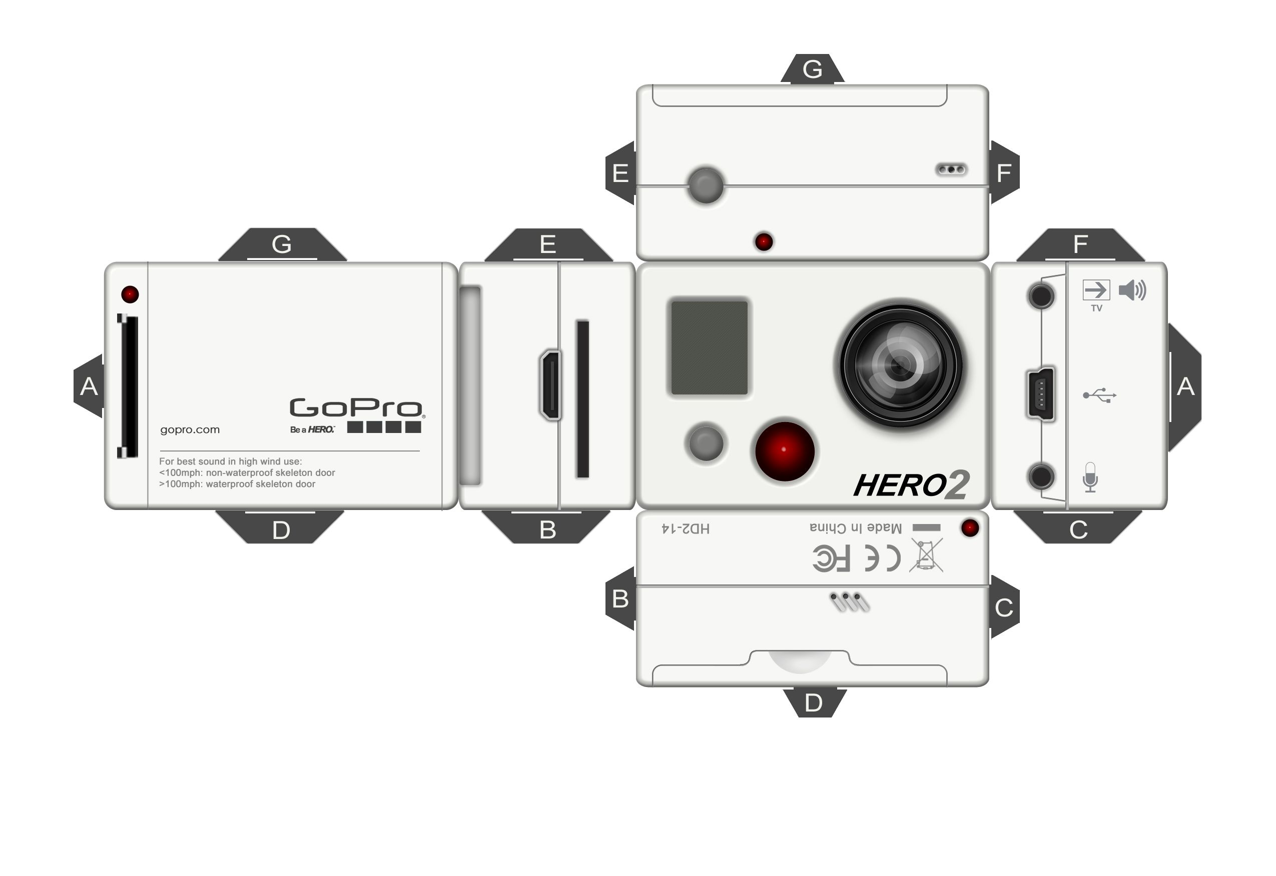 GoPro Pepakura by kreativ-kid.deviantart.com on