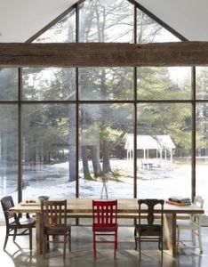 Peaked window wall echos the roofline of  modern farmhouse tom givone floating in upstate new york also pin by tina smith on just cool pinterest room rh