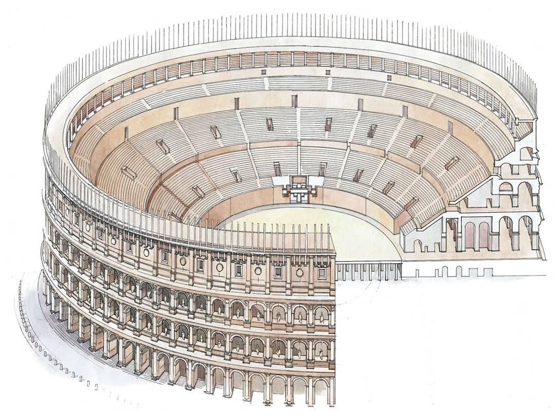 greek stage diagram standard serial cable wiring drawing of colosseum architecture google search italy