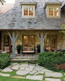 French Country Style Homes with Front Porch