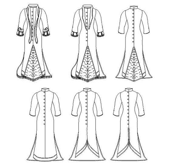 Victorian Polonaise Dress Pattern: Historical Multi Size