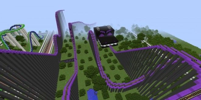 Pandaland Theme Park Built On Minecraft For Xbox 360 And Featured