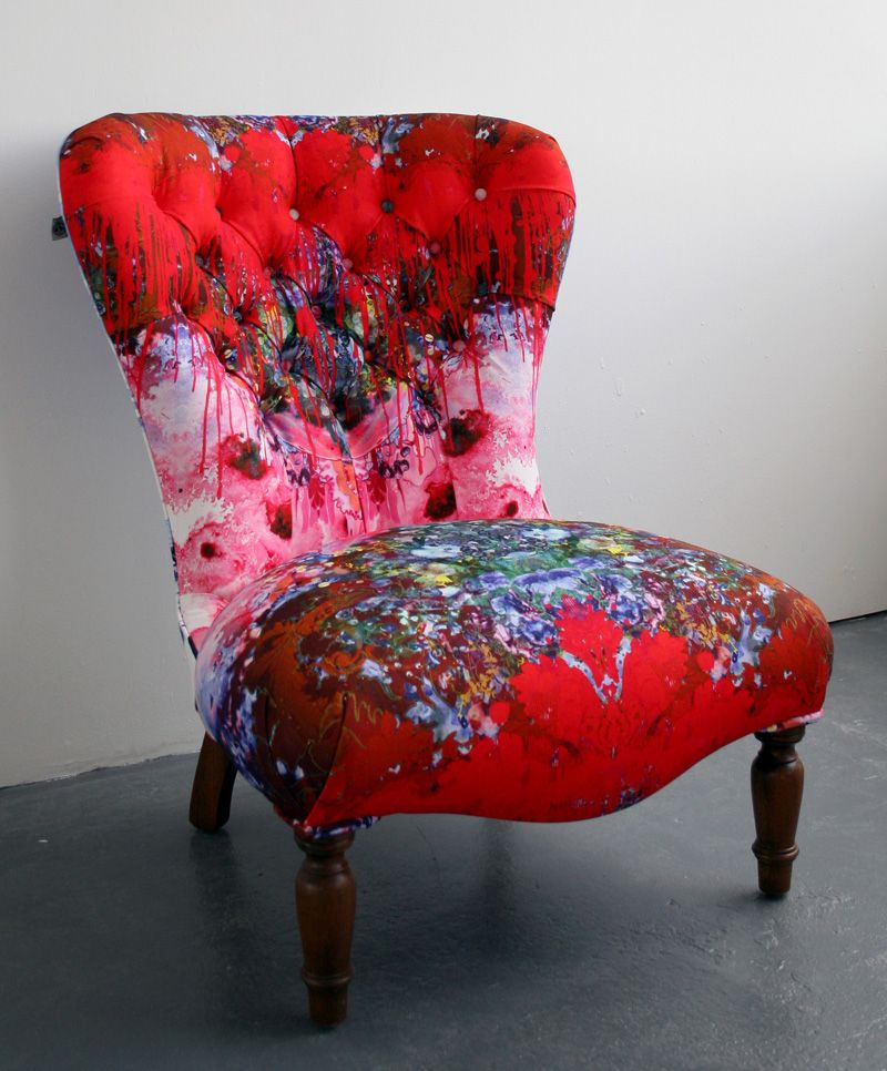 Reupholstered Chair by Timorous Beasties in a signature TB