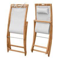 Sling Chair - Teak Folding Deck Chair - Harborside Beach ...