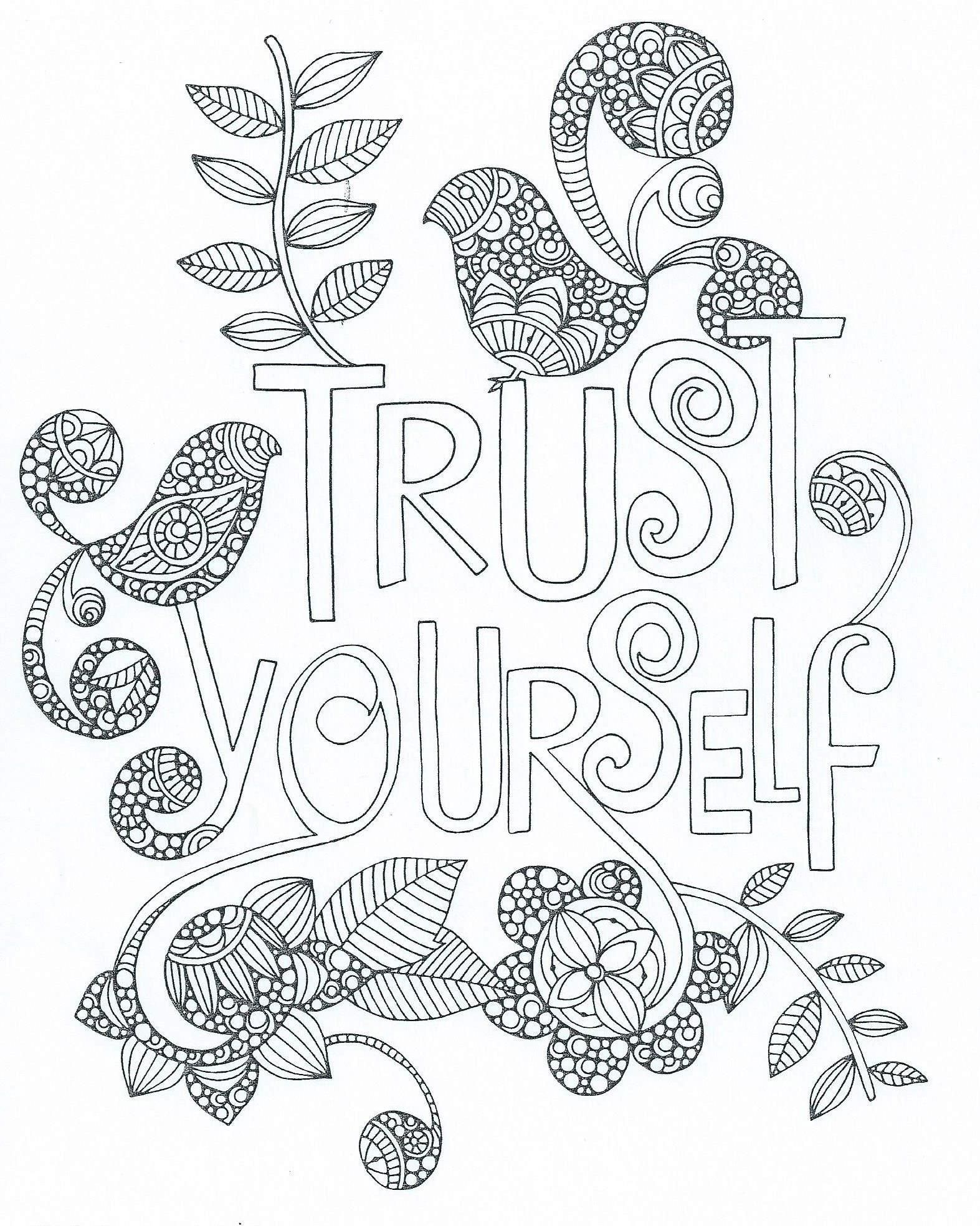 Encouragement Sheets Coloring Pages